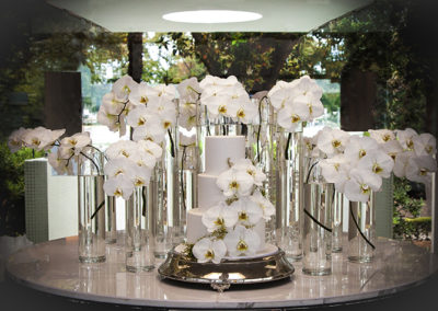 What could be nicer than this gorgeous display of phalaenopsis orchids adorning the main entrance at Catalina Restaurant — Rose Bay, Sydney, Australia. Impeccably designed, made, delivered, and installed by the Susan Avery team.